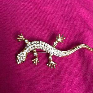 Vintage Roman lizard brooch